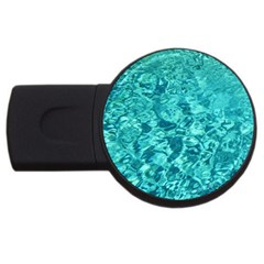 Turquoise Water Usb Flash Drive Round (4 Gb)  by trendistuff