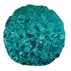 Turquoise Water Large 18  Premium Flano Round Cushions by trendistuff