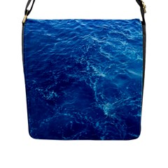 Pacific Ocean Flap Messenger Bag (l)  by trendistuff
