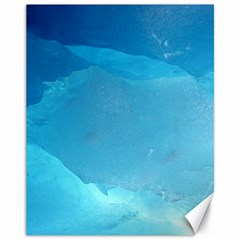 Light Turquoise Ice Canvas 11  X 14   by trendistuff