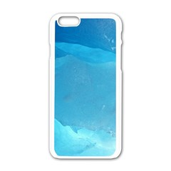 LIGHT TURQUOISE ICE Apple iPhone 6/6S White Enamel Case by trendistuff