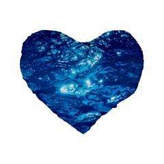 Light On Water Standard 16  Premium Flano Heart Shape Cushions by trendistuff