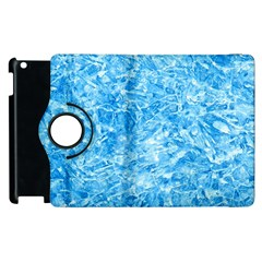 Blue Ice Crystals Apple Ipad 2 Flip 360 Case by trendistuff