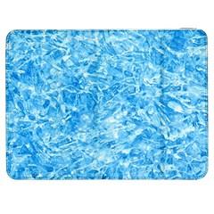 Blue Ice Crystals Samsung Galaxy Tab 7  P1000 Flip Case by trendistuff