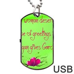 Garcia s Greetings Dog Tag USB Flash (One Side) by girlwhowaitedfanstore