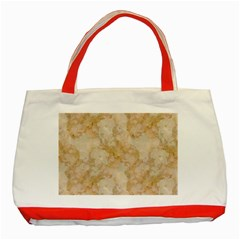 Tan Marble Classic Tote Bag (red)  by trendistuff