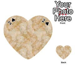 Tan Marble Playing Cards 54 (heart)  by trendistuff