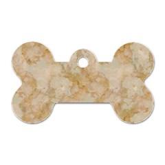Tan Marble Dog Tag Bone (one Side) by trendistuff