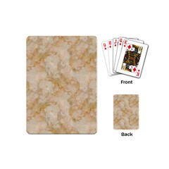 Tan Marble Playing Cards (mini)  by trendistuff