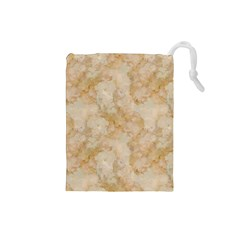 Tan Marble Drawstring Pouches (small)  by trendistuff