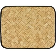 Tan Diamond Brick Double Sided Fleece Blanket (mini)  by trendistuff