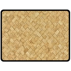 Tan Diamond Brick Fleece Blanket (large)  by trendistuff