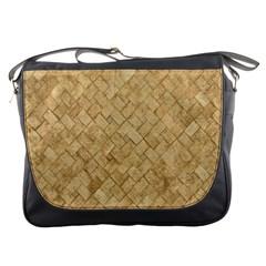Tan Diamond Brick Messenger Bags by trendistuff