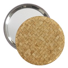 Tan Diamond Brick 3  Handbag Mirrors by trendistuff