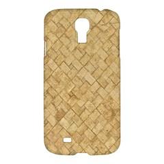 Tan Diamond Brick Samsung Galaxy S4 I9500/i9505 Hardshell Case by trendistuff