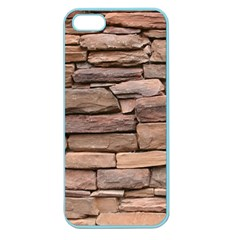 STONE WALL BROWN Apple Seamless iPhone 5 Case (Color) by trendistuff