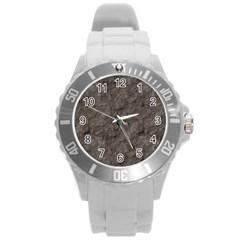 Stone Round Plastic Sport Watch (l) by trendistuff