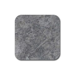 Silver Travertine Rubber Square Coaster (4 Pack)  by trendistuff