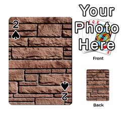 Sandstone Brick Playing Cards 54 Designs  by trendistuff
