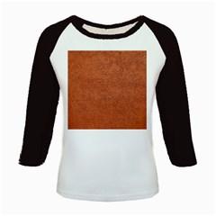 Rust Colored Stucco Kids Baseball Jerseys by trendistuff