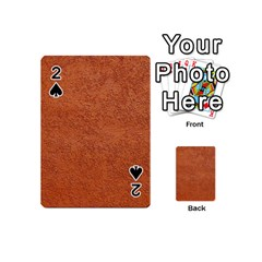 Rust Colored Stucco Playing Cards 54 (mini)  by trendistuff