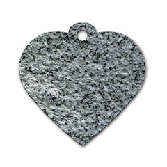 Rough Grey Stone Dog Tag Heart (one Side) by trendistuff