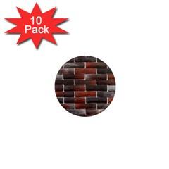 Red And Black Brick Wall 1  Mini Magnet (10 Pack)  by trendistuff