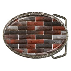 Red And Black Brick Wall Belt Buckles by trendistuff