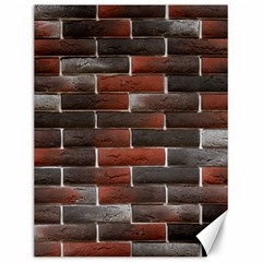 RED AND BLACK BRICK WALL Canvas 12  x 16   by trendistuff