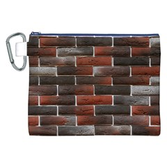 Red And Black Brick Wall Canvas Cosmetic Bag (xxl)  by trendistuff