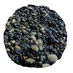 Pebbles Large 18  Premium Flano Round Cushions by trendistuff