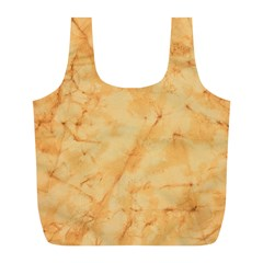 Marble Light Tan Full Print Recycle Bags (l)  by trendistuff