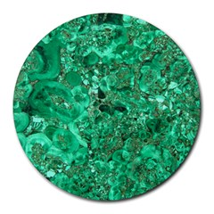 Marble Green Round Mousepads by trendistuff