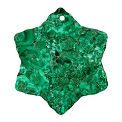 Marble Green Snowflake Ornament (2 Side)