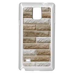 Light Brick Wall Samsung Galaxy Note 4 Case (white) by trendistuff