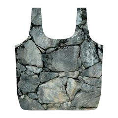 Grey Stone Pile Full Print Recycle Bags (l)  by trendistuff