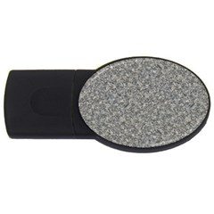 Grey Marble Usb Flash Drive Oval (2 Gb)  by trendistuff