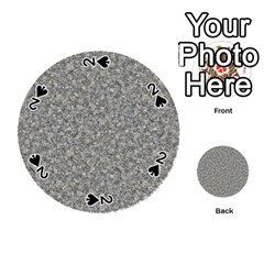 Grey Marble Playing Cards 54 (round)