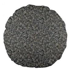 Grey Marble Large 18  Premium Flano Round Cushions by trendistuff