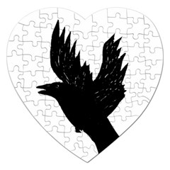Crow Jigsaw Puzzle (heart) by JDDesigns