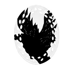 Crow Oval Filigree Ornament (2 Side)  by JDDesigns
