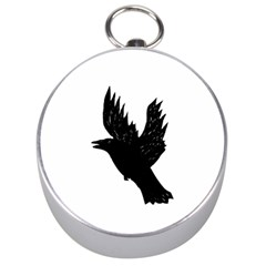 Crow Silver Compasses by JDDesigns