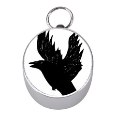 Crow Mini Silver Compasses by JDDesigns