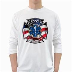 American Paramedic White Long Sleeve T Shirts by teambridelasvegas