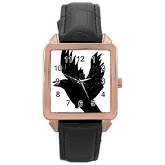 Hovering Crow Rose Gold Watches by JDDesigns