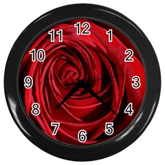 Beautifully Red Wall Clocks (black) by timelessartoncanvas