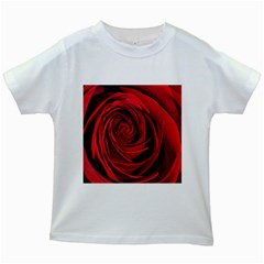 Beautifully Red Kids White T-Shirts by timelessartoncanvas