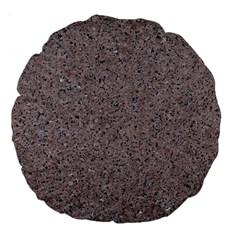 Granite Red Grey Large 18  Premium Flano Round Cushions by trendistuff