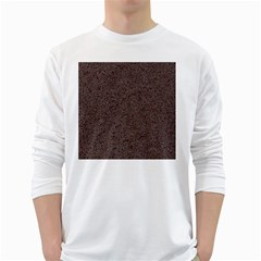 Granite Red Brown White Long Sleeve T Shirts by trendistuff
