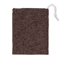 Granite Red Brown Drawstring Pouches (extra Large) by trendistuff